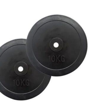 par de discos bumper 10 kg